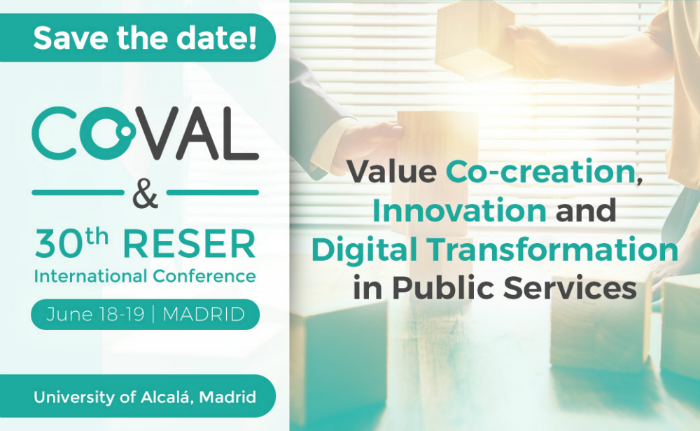 Save the Date: The Co-VAL & 30th RESER International Conference will be held in Madrid, on June 18th – 19th 2020!